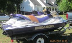 1-2003 gti sea doo jet ski, 1-2003 gti-le sea doo jet ski, and dual trailer; well maintained -