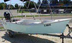 20HP Tohatsu 2009 with Electric start, electric tilt, Control lever, sticksteering, oars with oar locks, bimini, anchor and rope, fuel tank with water seperator filter, 2009 trailer. Total hours on boat and motor approx. 15.