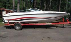 ONE OWNER BOAT! with walk through windshield, Chevrolet 350 engine, stainless steel propeller, new tires on trailer, this boat is in very good condition, Baja boat company only made these smaller ( 19 foot) versions with a walk through windshield for a