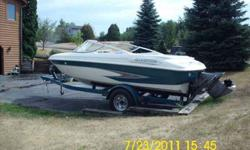 This is a under priced 1999 glasstron family ski boat with a 4.3 liter v-6 inboard outboard motor with a volva penta out drive. electric trim control. Plenty of storeage. Comes with 6 life vests,1 pro ski vest, pair of skis, knee board, and bran new ski