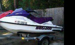I have 2 jet skis on a double trailer for sale.2005 Yamaha VX110 four stroke Three seater and a 2003 Sea Doo GTI 2 stroke Three seater. They sit on a twin ski trailer.I bought the Sea Doo new in 2003 and the Yamaha in 2008.Both Skis have been pre-owned