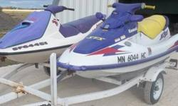 1997 Kawasaki STS 750 and Sea-Doo Bomardier GTS 750 Jet Ski's. Price includes both Jet Ski's and double Yacht Club trailer. Here at Bodafide Auto Sales we play it straight no gimmicks. No Insurance write-offs, well even show a Carfax or Carproof report on