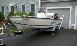 THIS 2002 KEY LARGO CENTER CONSOLE BOAT IS IN AWESOME CONDITION AND READY FOR THE WATER--iT HAS NEVER EVER BEEN USED IN SALT WATER--COMES WITH A 75HP MERCURY ENGINE THE LARGEST SIZE THIS BOAT CAN TAKE CAN DO UPWARDS OF 40 MPH. HAS AT LEAST 3 LIFE