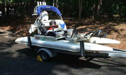 2011 CRAIGCAT BOAT PACKAGE- LIKE NEW! BOAT COMES WITH 2011 Evinrude 30hp E-TEC ENGINE AND TRAILER. EVERYTHING WAS BOUGHT NEW IN APRIL 2011. USED VERY LITTLE. CATCH-IT MODEL ? Designed exclusively for the avid recreational angler, it?s loaded to the gills
