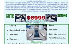 1995 Bayliner 2050 BowriderWow this is a gem very well taken care of with lots of sparkle and shine, Seats looks nearly new as well as the whole boat. Most of the time you see to V6 or a wittle 4 cyl and well them 4 cyl just don't cut it if you wanna