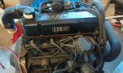 I am selling a Mercruiser 4 cyl boat engine. 120hp. It has been in storage for many years. I got it from an old man who pulled it from his boat to put a bigger engine in. It appears that the engine has hardly been pre-owned. There is a little dust on the