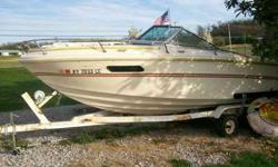 1978 webcraft run-a-bout boat. clear title. V8 engine 4barral carb. has all gauges. power trim. setup for 2 batteries. mercrusier outdrive. new water pump in lower unit. dual axle tandam trailer has new wheel bearings. good solid fiberglass body boat.