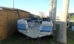 Clean title for boat and papers for trailer good solid hull an trailer in good condition. New carpet floor and side panels many extra parts. no engine Call or text to 305-343-1405