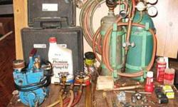I have a Portable Acetylene/Oxygen Brazing/Welding Rig with everything needed to work with PLUS various Refrigeration Tools and Parts that I would like to trade for a 14' Flat-bottom Boat and Trailer...Thanks!