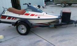 Yamaha Wave Runner, Runs fine, a little older but does the job, its a 1988! 2 seater, very fun, pretty powerful too. Last registered and pre-owned 2 yrs ago, but just had tested and up and running a couple weeks ago, new battery too.I am selling the