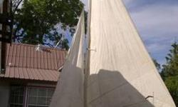 1967 O'Day widgeon sail boat 12 ft, 18 ft mast has center flip keel main sail is in need of repair bottom seam riped out jib in fair condition has had repairs. She is water tight fun to sail good beginners boat! I did fined sails on line for a reasonable