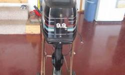 9.9 hp 2 stroke Mercury outboard motor, long shaft, electric start. Came off of a pontoon. Please call 815-405-7813 (texts and emails will not be answered). No personal checks. $725.00 obo