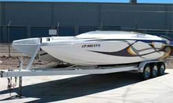 Nice! First Sold New in 2008 w/ 2007 Engine, Cat Hull, Open-Bow Mid-Cabin, 425 HP Mercruiser 496 Mag HO, Bravo One, Dual Ram External Hydraulic Steering, 4 Blade SS Prop, Dual Batteries w/ Switch, Power Engine Hatch, Bimini Top, Livorsi Gauges & GPS