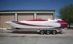 TWIN MERCURY RACING 500EFI'S,XR DRIVES W/IMCO SC LOWERS,HYD STR,MONSTER GAUGES,BILLET SHIFTERS,STEREO,POKER RUN SEATING,ELECTRIC HATCH,DUAL BATTERIES W/SWITCH,TRANSOM EXHAUST W/SWITCHABLE MUFFLERS,