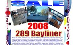 2008 289 Bayliner Discovery Brave the ocean, rivers and bays, with this 289 Discovery, Bayliners built tough boat~!~ The sleek design and narrower keel means smoother riding and more relaxing expeditions. This boat has what you need for a several day