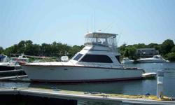 This 1984 Egg Harbor 40 Tournament Fisherman is located in North Falmouth, Massachusetts and is available for viewing by appointment only.BLUE EYES is in pristine condition, belies her age and has been very well maintained and esteemed by her current