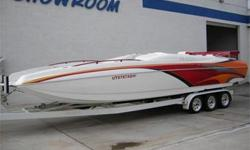 NICE! Awesome Spacious Deck Boat Layout, Cat Hull, 425 HP Mercruiser 496 Mag HO, Through Hull Exhaust, Bravo One X, 4 Blade SS Prop, Hydraulic Billet Trim Tabs w/ Livorsi Indicators, Livorsi Gauges, Power Engine Hatch, Dual Batteries w/ Switch, Bimini