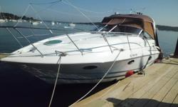 2004 31' DORAL INTRIGUE Duo Props increase fuel efficiency substantially and this boat has smaller V-8s (350 Chevy Block). Great condition, luxuriously appointed w room for sleeping six comfortably and entertaining ten people on deck. LOA
