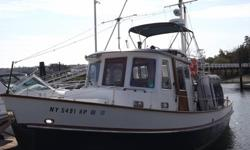 1988 32' EAGLE TRAWLER Economical Single Lehman Diesel Yard Maintained - $75000 (Oyster Bay, NY)www.sellyourboatnow.shutterfly.com/9828 for photos.Recent Survey available!!! yard maintained by OBMC, Tugboat Design, Solid, Classic Trawler.Economical and