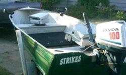 1974 commander with floor, rod holders, navigation lights, trailer, seats, fish finder, and electric motor. bearings replaced in trailer this spring and trailer rewired a month ago. $750 obo without motor. i also have a mid 80s honda 4 stroke 10 horse