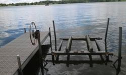 Aluminum boat lift, holds 3000lbs, 96 inches wide, works great! May be able to deliver if purchased by this weekend.