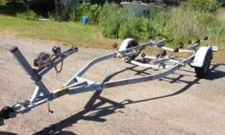 Karavan Galvanized Roller Boat trailer holds boat up to 20 ft. 2999 Lb capacity single axle trailer is registered- registration and titile in hand. all new lights, tongue jack- ready to roll $750- (203)-209-6076
