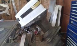 1973 Johnson 85 hp w/contols, power tilt and trim. will consider trade for smaller 25-50 hp w/controls