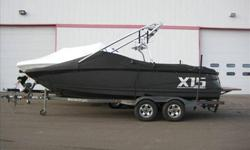 2009 MasterCraft X55 This is the ultimate family towboat. At over 25ft long and enough seating for everybody, this boat bridges the gap between cruising boat and hardcore watersports. Equipped right with the 6.0L 400 HP Indmar motor, factory ballast and