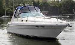 This 34? Sea Ray 340 Sundancer is located in Bridgeport, CT. Like her siblings, she is one the most sought after family cruisers of all-time and typifies the modern conveniences, spacious design, and excellent handling characteristics of the