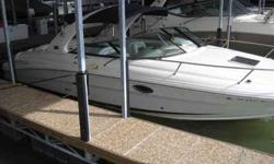 2007 Sea Ray 290 SUN SPORT White hulled 290SS powered with twin 350 Mags 300hp each. This Sea Ray Sun Sport has a commanding helm that comes fully equipped with a full array of custom SmartCraft instruments including illuminated weatherproof electronic