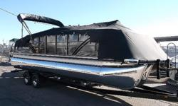 JUST ARRIVED,DEMO BOAT! RETAIL $89k, MERCURY VERADO 300 SUPERCHARGED OUTBOARD ENGINE,WET BAR W/SINK BBQ GRILL,BAR STOOLS,POLISHED TOONS! LOADED! LOADED! LOADED! 928-855-9555http