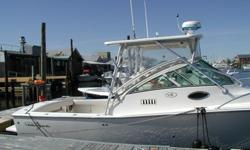 C-Worthy, located in Freeport NY is a fine example of the Albemarle offshore Deep V angler. She is fully loaded with the amendities one would expect for a serious fishing boat or a family cruiser. The cabin features a comfortable vee berth bunk/seating