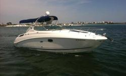 2009 Sea Ray 270 SUNDANCER Only 56 hours! Includes Generator Heat and Air! LIKE NEW!!! This 2009 270 Sundancer is in excellent condition and is loaded with options. The boat has been dry stored all its life. The previous owner has added to his family and