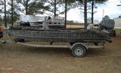 This is the ultimate shallow water River Fishing and Duck Boat!!! I have owned the boat since it was 6 mons old. Boat and motor are 2006 model. 17 and 1/2 Generation three stick steer Boat with 90/60 horsepower evinrude e-tec jet motor. Boat is