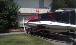 1992 Baja Sport 180 custom, 18' long, tricked out Yamaha 150 two stroke. Motor has had Performance Reed work, head work,carb work, and exhaust work. This boat Screams and sounds great. Motor is sitting on a adjustable performance Jack Plate, 23 Degree SS
