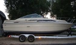 END OF THE SEASON SPECIAL!!!! NEED TO SELL-- MAKE AN OFFER 24.5' Sea Ray 1984 with Heavy Duty Trailer New Crate Engine --only 5 hours on Motor-- Runs Great! Trim Tabs All new Bearings on Trailer New Tires on Trailer Bathroom, Two Burner Stove, and a Sink