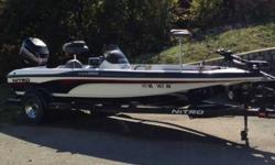 This 2001 Nitro NX882 is a must see if your shopping for a pre-owned bass boat in terrific condition with a lot of extras! The motor is a 2000 Mercury 150XR6 and it runs well. In the last 2 yrs I have added a Lowrance HDS5 with GPS and Lake Insight,