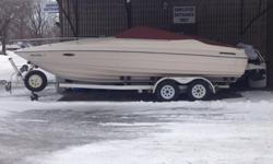 1989 Maxum cuddy... Life has become super busy with family and will not have time to use the boat. It is a 23 foot cuddy cabin which is great for weekend getaways. We used it mostly on Winnebago and spent some nights on it and it was perfect. If we were