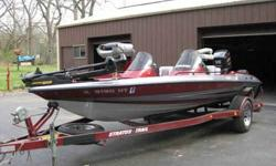 1995 STRATOS BASS BOAT MODEL 284 150HP JOHNSON MOTOR, 65# TRUST TROLLING MOTOR 2 ELE. ANCHORS, NEW BATTRIES, NEW UPHOLSTERED SEATS, 2 FISH FINDERS. PHONE 815-351-2767 ANYTIME NO E MAIL OR TEXT, CALLS ONLY