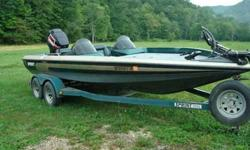 20 ft dual console bass boat with a 200 hp EFI mercury outboard. In good shape runs great.