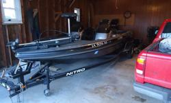 125 Mercury New Trolling motor 24V, 71 pound thrust bought in 2010 New on board charger, 3 bank minkota bought in 2011. PLUS all fishing poles, tackle, and boat cover included. If Interested or have any questions please call at 641-373-3261
