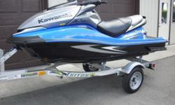 250 hp 3 seater supercharged 4 cylinder We just had a baby, so we need to sell our jet ski. The picture is not my exact Jet Ski, but it is the same kind and color. Mine comes with a trailer and cover. It has approximately 70 hours logged. There are no big