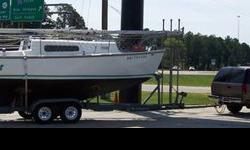 Boat is located on the Ms Gulf Coast One of the best coastal cruising sailboats available Excellent Condition 1969 Morgan 25 with galvanized tandem axle trailer, new tires and wheels. Trailer has 10' extendable tongue which makes launching easy in almost