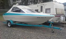 16ft runabout Bayliner, with inboard outboard 4 cylinder engine. Runs great, starter and thermostat replaced recently. Clean engine. Includes everything needed to get u/w. asking 7,500 or best offer. Newly reduced price!