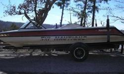 688266 - asking price $7800, Stored and Winterized under cover every winter, 20ft closed bow, Red, black, and white color. The engine was rebuilt 2 years ago and is a Pro Boss GT 40 PCM 5.8 engine. The engine runs well