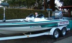 1995 Skeeter 200ZX Bassboat 20' long 200HP Mariner completely rebuilt with new power head, work done by Staff Jennings. About fifteen hours on new motor. Trim/Tilt motor is out. Dual console, Triple on-board charger, Hotfoot, Stainless Propeller(almost