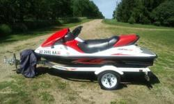 For Sale 2009 Kawasaki STX15f 3 person jetski with 2004 Shorland'r trailer and cover. Jetski has 20 hours, brand new battery, and a warranty through 2014. Trailer has all LED lighting and new tires. Excellent condition and stored inside. Please contact