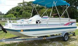 85HP Yamaha with tilt and trim, Bimini, Boot for top, Magic tilt trailer with new wheel bearings and bearing buddies, Nice upholstry, 2 fishing chairs with livewell between and side bench seats. Coast Guard kit as well as life vests, 2 anchors and 2