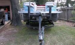 1995 24' Playcraft Tritoon pontoon boat. 1985 Inline 6 Mercury 90hp outboard motor with stainless steel prop. Trailer