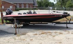 1997 Stratos 201 PE DC with Johnson 150 and trailer. Has trolling motor and SS Prop.